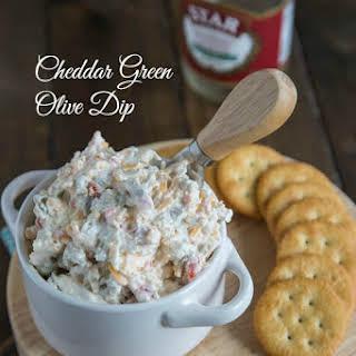 Cheddar Green Olive Dip.