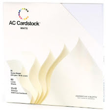 American Crafts Textured Cardstock Pack 12X12 60/Pkg - White