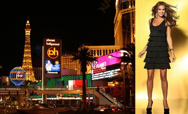 Photo: Laura Scott Evening Cocktailkleid: Für einen aufregenden Abend in den Casinos von Las Vegas. Tolles Abendkleid mit ausgefallenen Volants. Das elegante Oberteil mit abgerundetem V-Ausschnitt zaubert ein atemberaubendes Dekolleté. Die schwingenden Volants im Rockbereich des Cocktailkleides setzen unter der Brust an und verleihen dem Kleid einen tollen Fall. www.baur.net/kleider5 — hier: Las Vegas - die Stadt der vielen Lichter.
