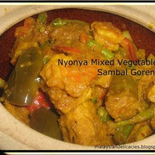Nyonya Mixed Vegetable Sambal Goreng.