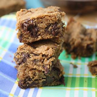 'Peanut Butter' Blondies - Gluten Free & Vegan & Ultra Low Sugar.