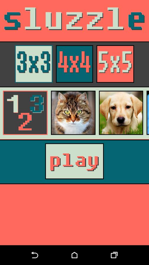 Sluzzle - στιγμιότυπο οθόνης