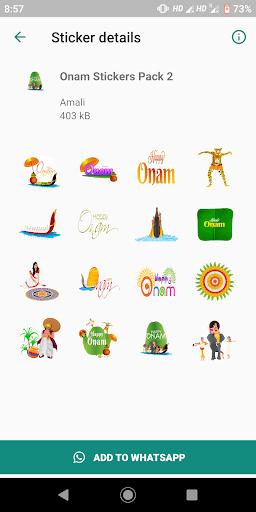 Onam Stickers for Whatsapp screenshot 3
