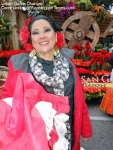 Photo: Pasadena Rose Parade 2013 The City of San Gabriel Float  Lady who road on the float