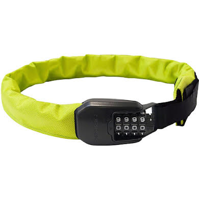 Hiplok Spin Wearable Combination Chain Lock: Neon Yellow