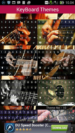 Guitarist keyboard theme
