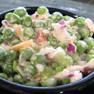 Green Pea Salad with Easy Creamy Dressing Recipe