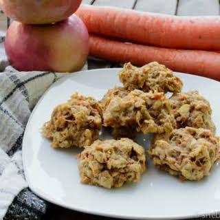 Carrot and Apple Cinnamon Oatmeal Cookies.