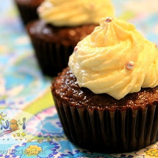 Chocolate Cupcakes with Buttercream Icing.