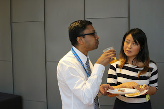 Photo: Andrew Packiyanathan and Melinda Phang (one of the J&J Medical sponsor reps)
