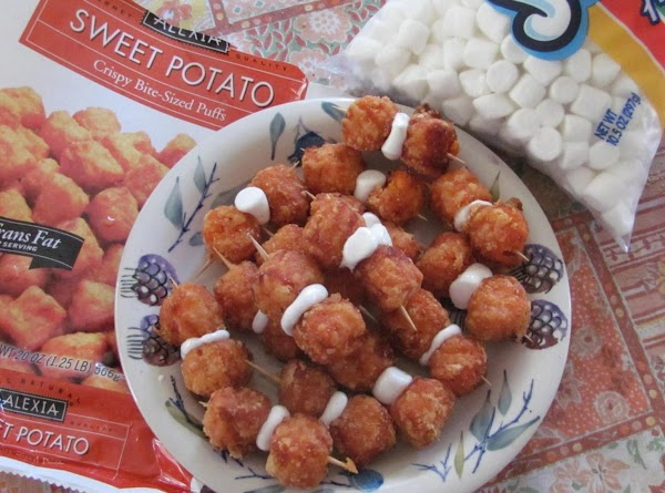 Sweet Potato Puff Appetizers1 bag Sweet Potato Crispy Bite-sized PuffsOPT. (Reg. mini tater tots...