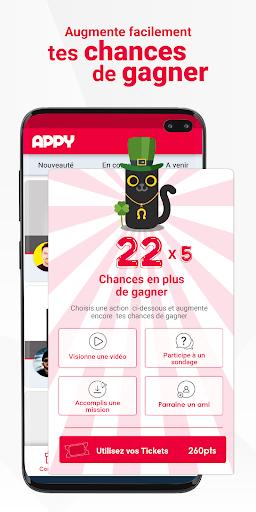 Code Triche APPY : jeux concours 100% gratuits apk mod screenshots 3