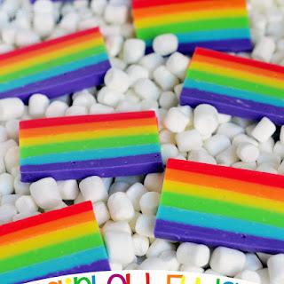 Easy Rainbow Fudge.