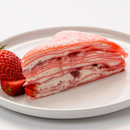 Strawberry Mille-Crêpe Cake (Slice)