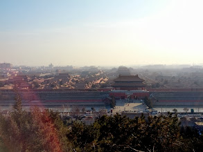 Photo: View of the Forbidden City from the top of the park.
