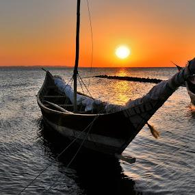 tramonto by Vito Masotino - Transportation Boats ( sunset, kenya, travel, landscape,  )