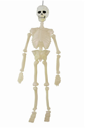 Självlysande skelett 90 cm