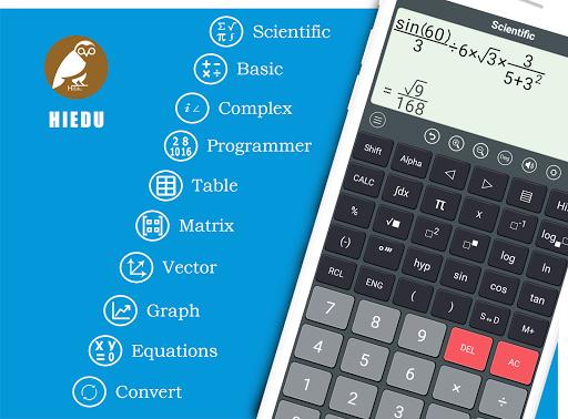 HiEdu Scientific Calculator : He-570 4.1.8 screenshots 1