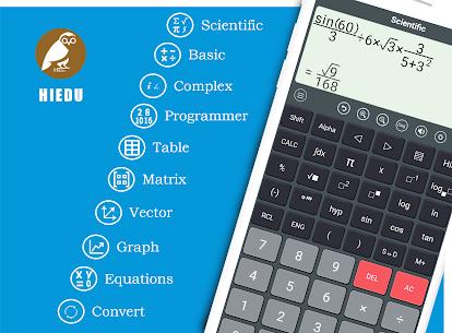 HiEdu Scientific Calculator : He-570 MOD APK (Ad-Free/Proper) 1
