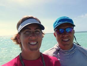 Photo: selfie off Hoffman Cay