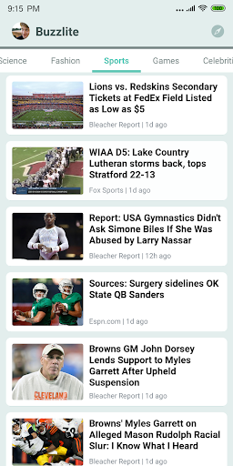 Buzzlite - News Feed for Anything You Care. 1.1.1 screenshots 2
