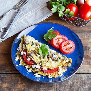 Vegetable and Feta Omelet