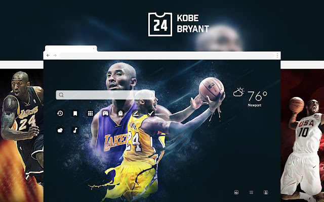 Kobe Bryant NBA Basketball HD Theme