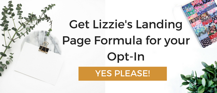 landing Page Formula for opt-in