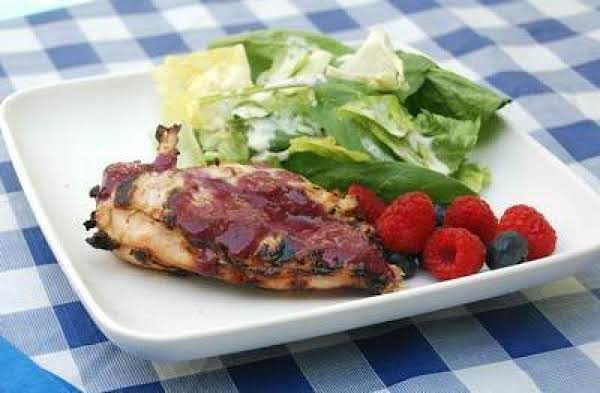 Chicken Grill With Tangy Blueberry Sauce Recipe