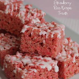 Strawberry Rice Krispie treats.