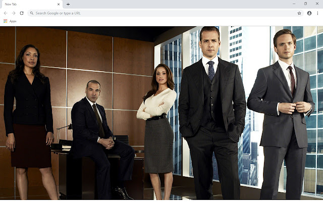 Suits New Tab & Wallpapers Collection