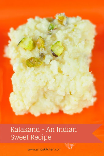 Sweet Kalakand A Quick And Easy Desserts In 15 Mins Anto S Kitchen