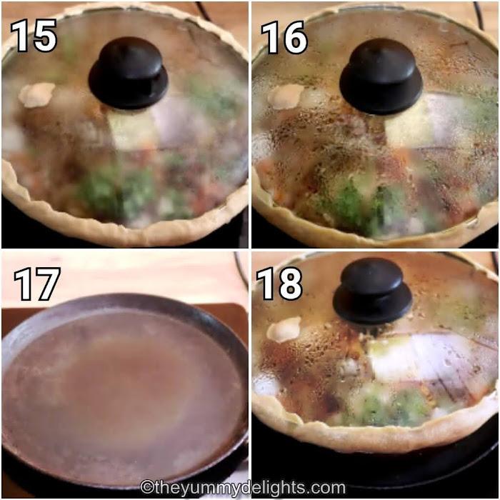 step by step collage of dum cooking the hyderabadi chicken biryani
