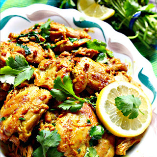 Lemon Cilantro (Coriander) Chicken.