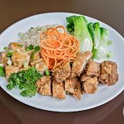 Crispy Salt-Pepper Chicken & Rice Bowl