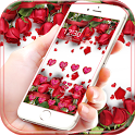 Red Rose Theme Wallpaper Red Roses Lock Screen icon