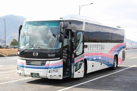 伊予鉄道「ハーバーライナー」 5251 吉野川SA休憩中