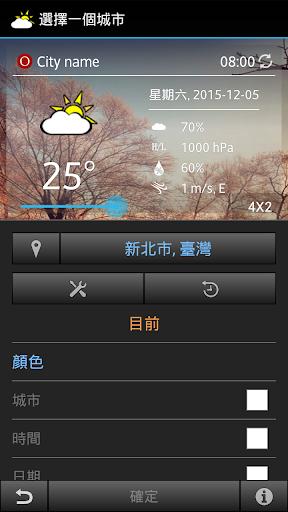 台灣跟隨桌面天氣時鐘小工具 - IC Weather