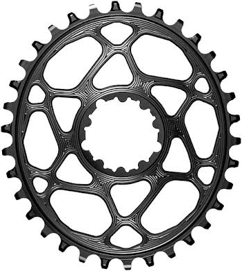 Absolute Black Oval Direct Mount Chainring - SRAM 3-Bolt DM, 3mm Offset, Requires Hyperglide+ Chain alternate image 0