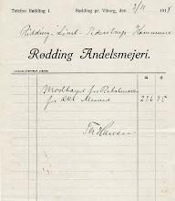 Photo: Mælkerabatmærker - kvittering 1918