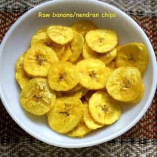 Kerala Raw Banana (plaintain) Chips Or Nendran Chips.