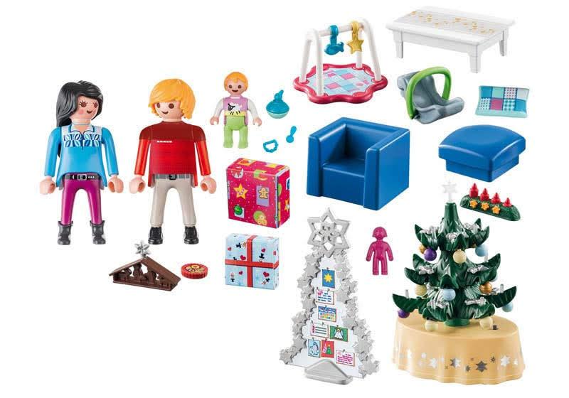Contenido real de Playmobil® 9495 Salón Navideño