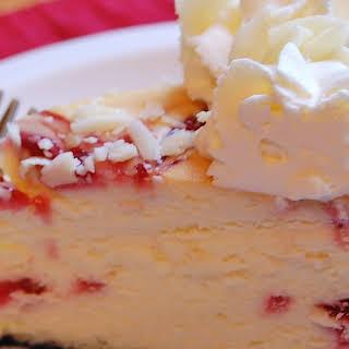 Cheesecake Factory's White Chocolate Raspberry Truffle Cheesecake.