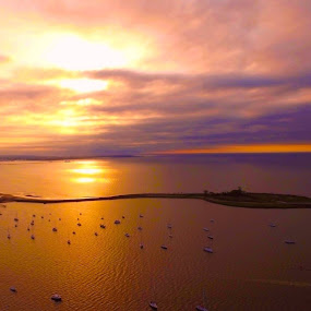 I Shot This With The Drone At St Mary's By The Sea Black Rock Ct June 2016 by Andrew Medvegy - Landscapes Beaches (  )