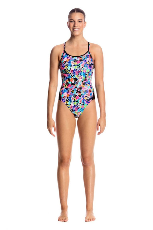 Funkita Ladies Diamond Back One Piece Handsome Ransome - FS11L01713