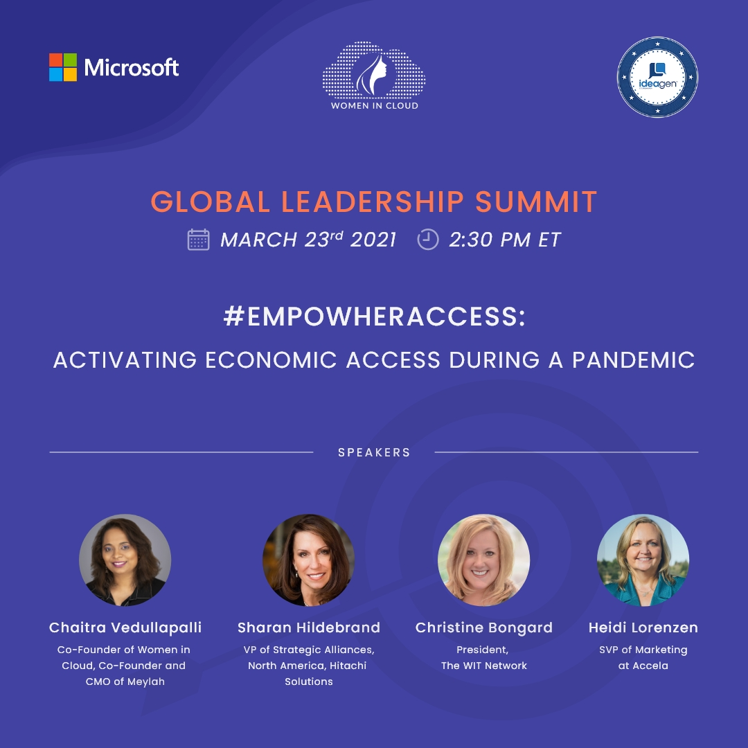Women In Cloud #EmpowHERWithAccess: Activating Economic Access During a Pandemic