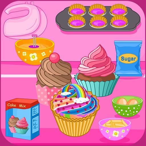 Bake multi colored cupcakes