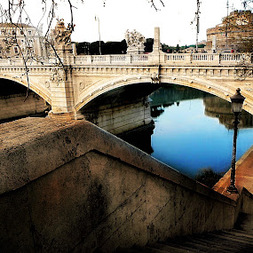 Rome Italy - Angel palace by Manuela Dedić - City,  Street & Park  Historic Districts ( angel, landmark, rome, travel, bridge, palace, tiber,  )