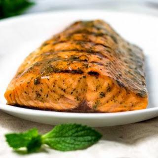 Honey Mustard Grilled Salmon.