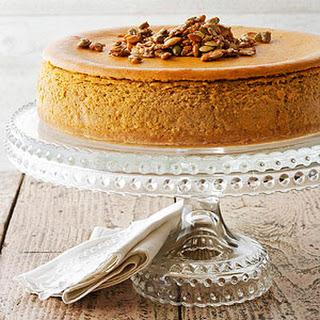 Pumpkin Spice Cheesecake with Sugared Pepitas Recipe